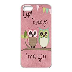 Owl art Unique Design Hard Pattern Phone Case For For iphone 5c Case color16