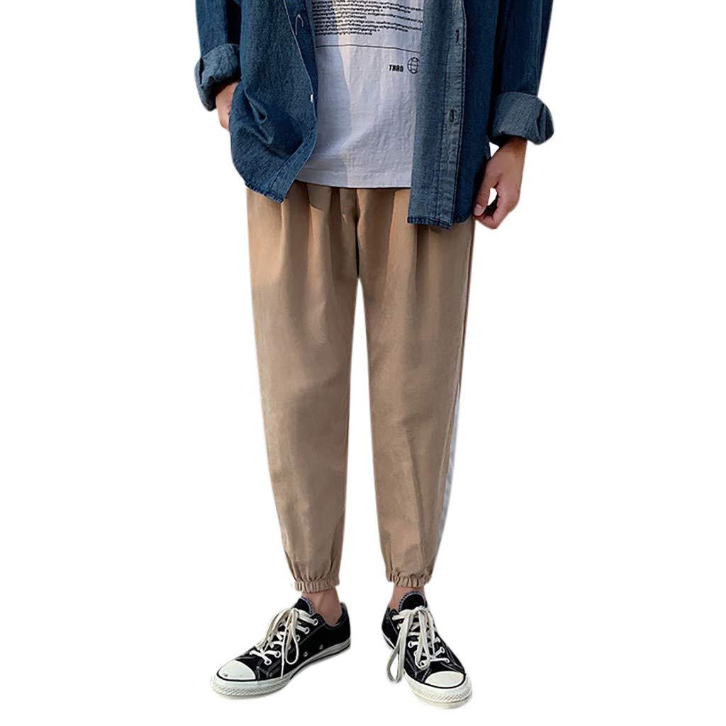 Alalaso - Pantalones de chándal para hombre - Caqui - Large ...