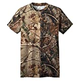 Russell Outdoors Mens Realtree AP Camo Short Sleeve Explorer Shirt w/ Pocket M L XL 2XL 3XL