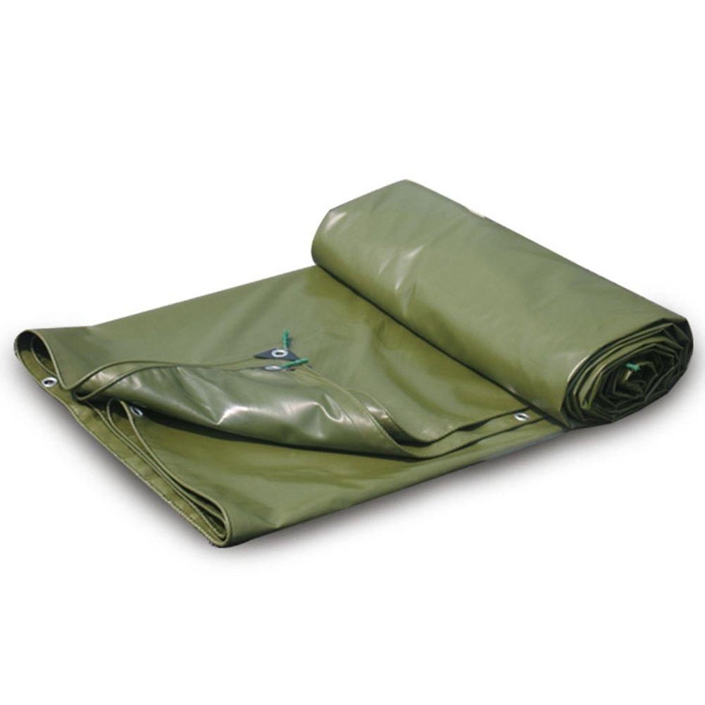 LQQGXL Wasserdichte Zeltplane im Freien Wasserdichte Zeltplane doppelseitige feuchtigkeitsgeschützte Fracht Staubschutz Anti-Korrosions-Frostschutz, grün Wasserdichte Plane