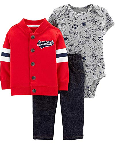 Carter's Baby Boys' Cardigan Sets (12 Months, Awesome)