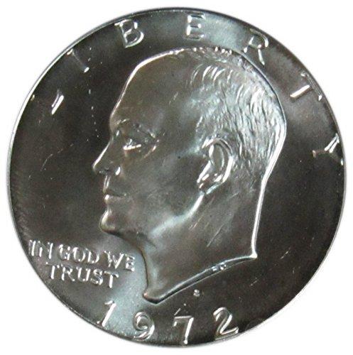 - 1972 S 40% Silver Eisenhower Dollar Gem Uncirculated