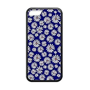 Canting_Good,Retro Floral Daisy, Custom Cases for iPhone 5C TPU (Laser Technology) by lolosakes by lolosakes