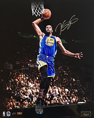 (KEVIN DURANT Autographed Warriors