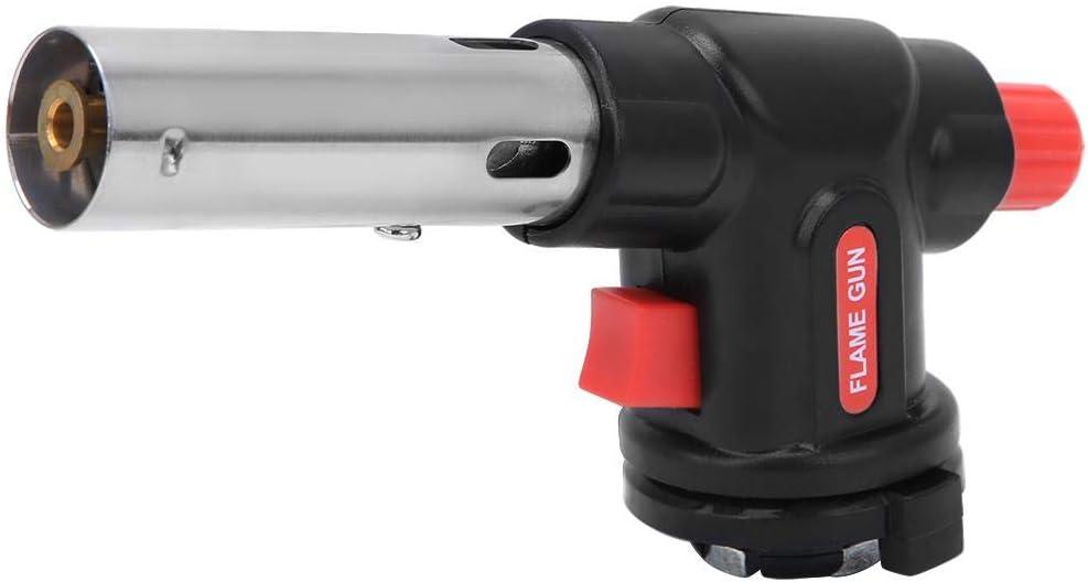 Pistola de Llama Soplete de Gas Pistola de Llama Ajustable Pistola de Soldadura de Encendido Electrónico para Exteriores Cocina Cocina Barbacoa Hornear 1300 ℃