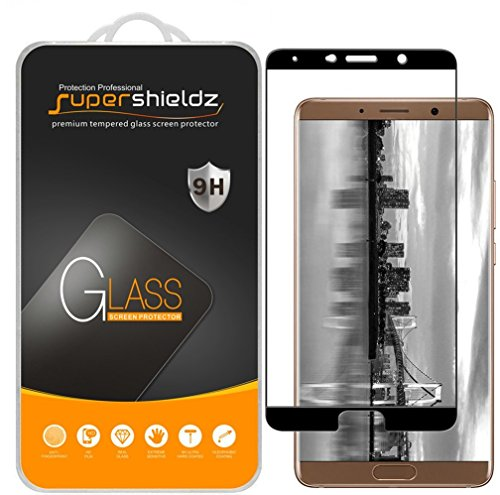 [2-Pack] Supershieldz for Huawei Mate 10 Tempered Glass Screen Protector, [Full Screen Coverage] Anti-Scratch, Bubble Free, Lifetime Replacement Warranty (Black)