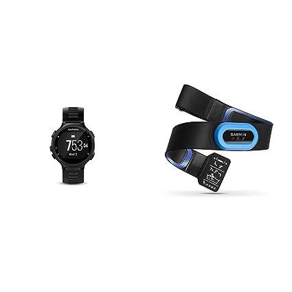Garmin Forerunner 735XT, Multisport GPS Running Watch with Heart Rate, Black/Gray Bundle with Garmin HRM-Tri Heart Rate Monitor
