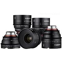Rokinon 5 Lens Xeen Professional Cine Lens Bundle for PL Mount Includes 14mm T3.1, 24mm T1.5, 35mm T1.5, 50mm T1.5, 85mm T1.5