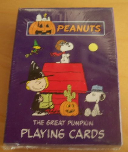 Rare! Peanuts Snoopy The Great Pumpkin Deck of Playing Cards - Flying Ace -