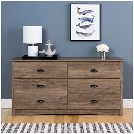 Bedroom Prepac Salt Spring 6 Drawer Dresser, Drifted Gray dresser