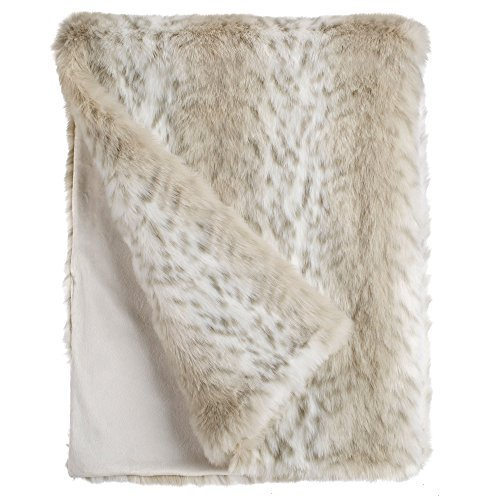 Lynx Throw - Fabulous Furs: Faux Fur Luxury Throw Blanket, Lynx, Available in generous sizes 60