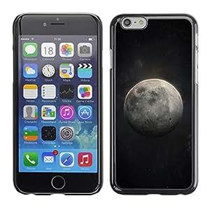 FECELL CITY // Duro Aluminio Pegatina PC Caso decorativo Funda Carcasa de Protección para Apple Iphone 6 // Moon Art Cosmos Night Sky Universe
