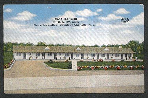 Casa Rancho Charlotte NC postcard 1930s Mr & Mrs C A Breeze