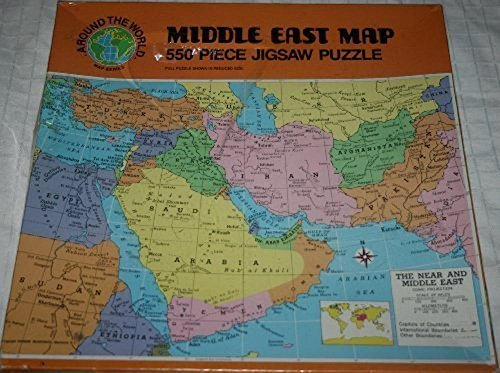 Africa Game - Middle East Map, 550 Piece Jigsaw Puzzle