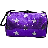Girls Dance Duffle Sequin Star Bag with Shoulder Strap Choose Color