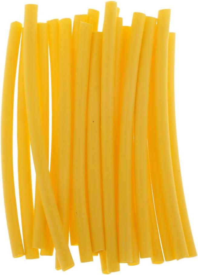 LEIPUPA 20pcs Diameter 2mm Shrink Rigs Sleeves Tubing Shrinkable Tube 5 Colors