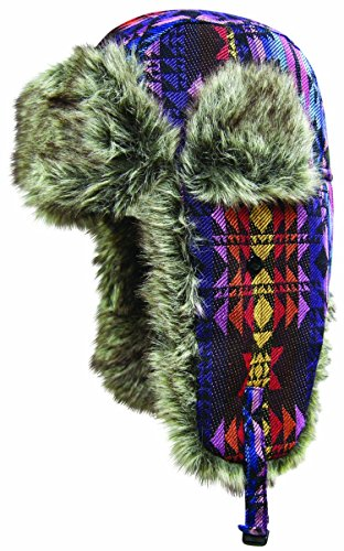 (Dakota Dan Winter Trooper, Trapper, or Hunting Hat Faux Fur - Native)