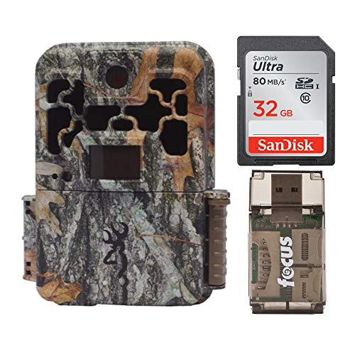 Browning Spec Ops Advantage 20MP Trail Camera (Color Display) Bundle with 32GB SD Card and Focus USB Reader (3 Items)