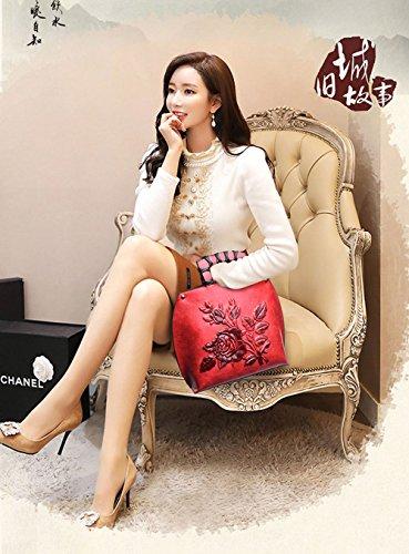 À Pu Red Femmes Kyokim Bandoulière Paquet Pour Chinois Sac Diagonale Style Main w5qPT