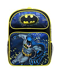 "Backpack - DC Comics - Batman Yellow/Black 16"" School Bag BN34939"