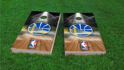 Golden State Warriors Cornhole Set, 1x4 Frame (25% Lighter) by Tailgate Pro's