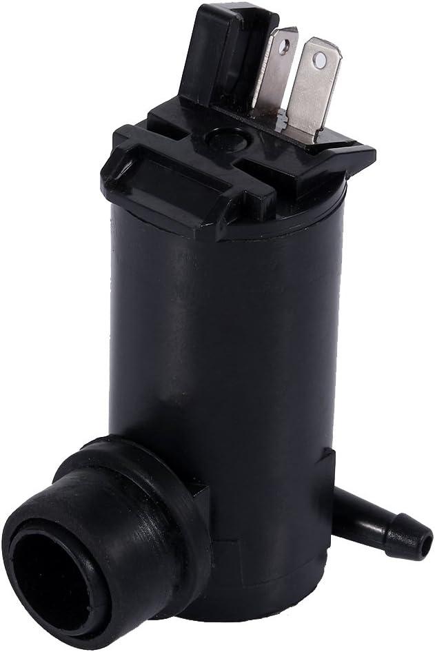 negro Bomba de l/íquido de limpiaparabrisas Bomba de lavado de parabrisas compatible con Honda Element Accord Civic