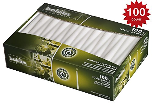 Taper 10inch Candles Color: White 100 count ()
