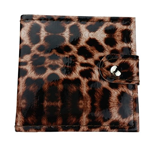 Ecvtop Make up Kit Eyebrow Powder Eye Shadow Lip Gloss with Mirror Leopard Gift Set Wine Red