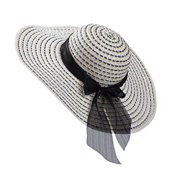 5f49fa54b Amazon.com: Aabigale beautiful Summer Straw Hat Women Big Wide Brim ...