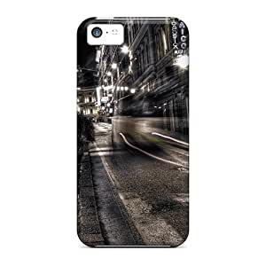 Hot Tpye Gray City Night View Case Cover For ipod touch5