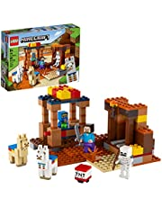 LEGO Minecraft The Trading Post 21167 Collectible Action-Figure Playset with Minecraft's Steve and Skeleton Toys, New 2021 (201 Pieces)