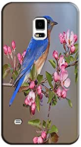 LKPOP Cases / Covers Cute Birds Lovely In The Sky Trees Purple Flowers Cell Phone Case For Samsung Galaxy S5 i9600 No.9