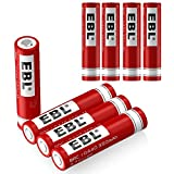 Best 18650 Battery Button Tops - EBL 10440 Li-ion Rechargeable Batteries 3.7V 350mAh Review