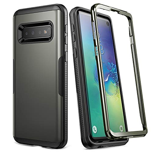 YOUMAKER Case for Galaxy S10, Gun Metal Heavy Duty Protection Full Body Shockproof Slim Fit Without Built-in Screen Protector Case Cover for Samsung Galaxy S10 6.1 inch (2019) - Gun Metal ()