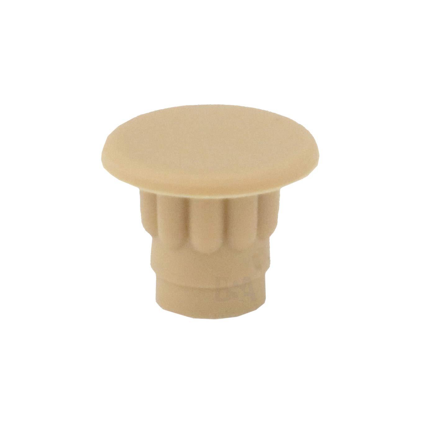color beige profundidad del orificio: 5 mm Irox avellana Lote de 10 tapones para agujero de 5 mm pl/ástico tap/ón: cubre agujero para muebles de 5 mm cabeza: 7 mm