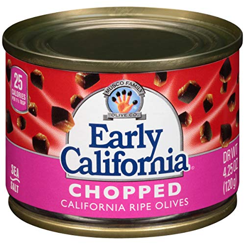 Early California 4.25 oz. Chopped Ripe Black Olives, 24-Cans ()