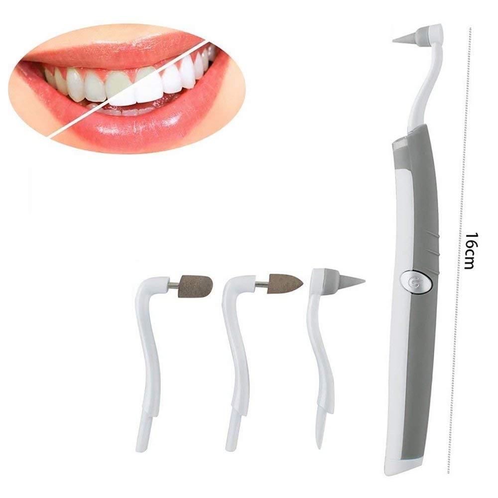SHT Multifunción De Dientes Sónicos Borrador De La Placa De Eliminación De Placas Dentales Kit De Herramientas De Higiene Bucal Cuidado con Luz LED: ...