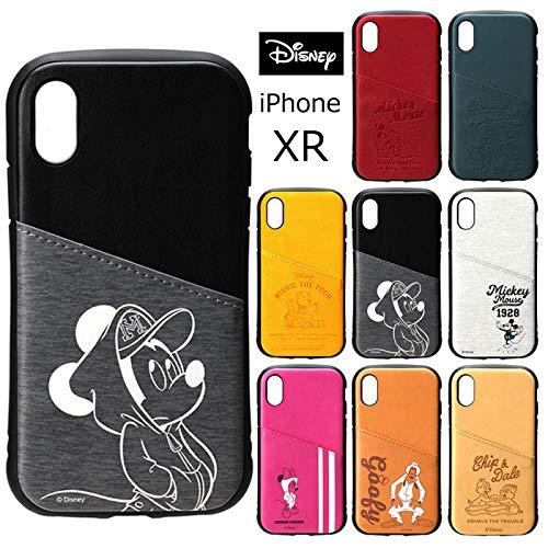 【미키마우스】iPhoneXR 디즈니 터프 포켓 케이스 하드 카드 수납 하드 케이스 캐릭터 후면 귀여운 심플 상품 미키 / 미니 / 푸/  도날드 / 아이폰XR 대응 기종 : iPhoneXR (6.1inch) 스마트폰 케이스 s-pg_7b109