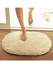 Bathroom Carpets Absorbent Soft Memory Foam Doormat Floor Rugs Oval Non-slip Bath Mats 40 x 60cm