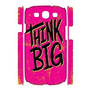 3D Yearinspace Typography Samsung Galaxy S3 Cases Typography Think Big Protector For Girls, Case For Samsung Galaxy S3 Mini I8190, [White]