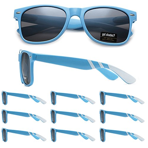 WHOLESALE-RETRO-BULK-LOT-TEAM-SPIRIT-RACING-STRIPE-PROMO-SUNGLASSES-10-PACK