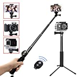 Selfie Stick Bluetooth - YoTilon Extendable Selfie Stick(Battery Free) with Wireless Remote and Tripod Stand Selfie Stick for iPhone - Samsung - other Android phones - digital cameras and GoPro
