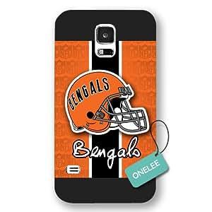 Onelee™ - negro deslustradas NFL Logo Samsung Galaxy S5 Cincinnati Bengals funda cubierta - negro 6