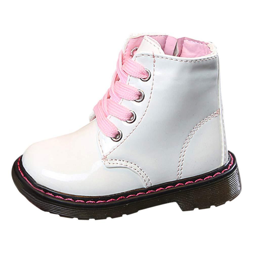 Robemon✬Martin Sneaker Bottes pour Enfants garçons et Filles Bottes Chaudes avec Vent Britannique Bottes de Neige pour Bottes Martin