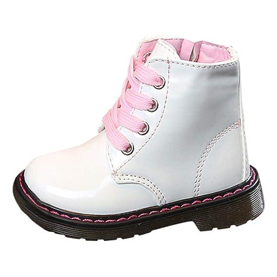 71756b795 YanHoo Zapatos de otoño e Invierno Botas de niños y niñas para niños Botas  de niños y niñas con Viento británico Botas Botas de Nieve Zapatillas  Sneaker ...