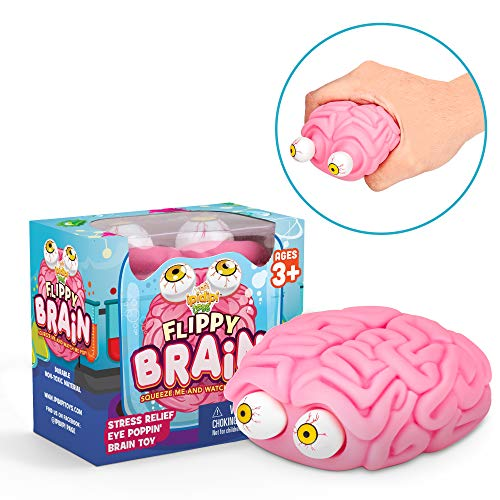 Flippy Brain Squishy Eye Poppin Large Squeeze Fidget | Stress Relief Ball | Poppin Peeper | Anxiety Reducer Sensory Play | Gift For Toddlers Boys & Girls | Suitable For Autism & ADHD | Halloween Toy by Funky Toys