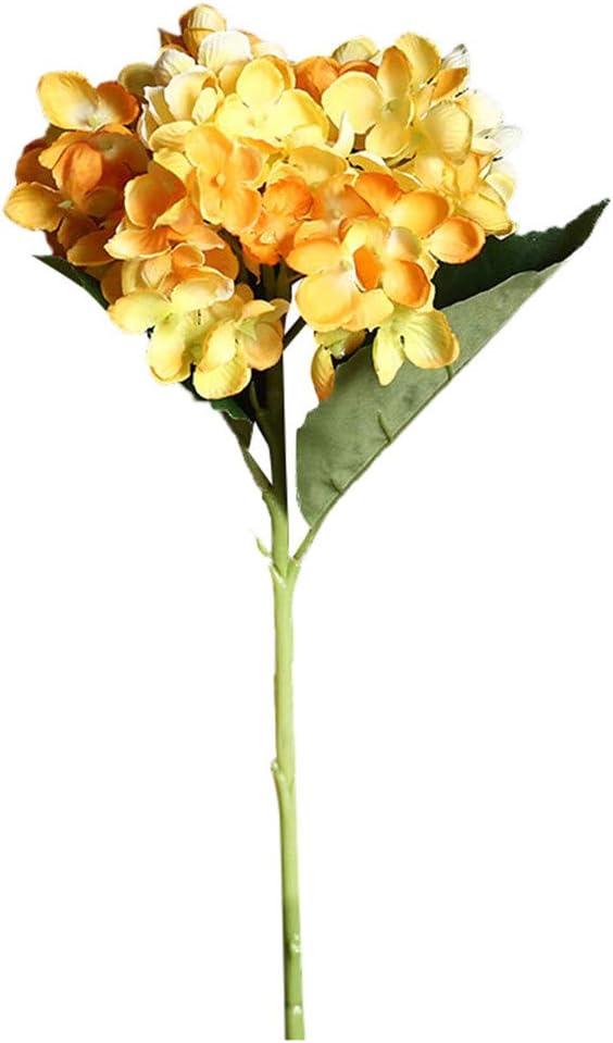 Jeeke Artificial Flower Hydrangea Fake Silk Flower Plants Decor Wedding Party Decoration Bouquets Real Touch DIY Home Garden