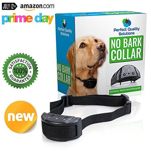 PERFECT QUALITY SOLUTIONS ONE Day Sale Advance No Bark Collar No Harm Shock Dog Control-7 Sensitivity Adjustable...