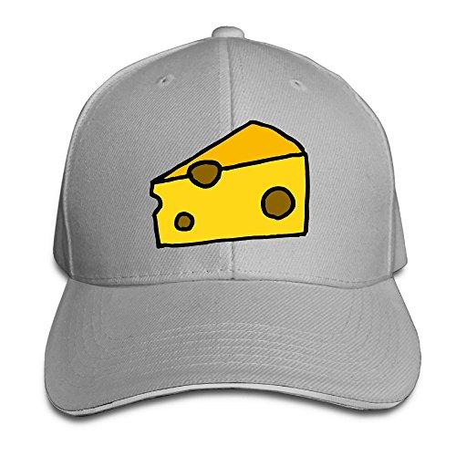 Baseball Cap Cheese Unisex Sporting Cotton Cap Adjustable Plain Hat Sun Outdoor Snapback Hat Ash
