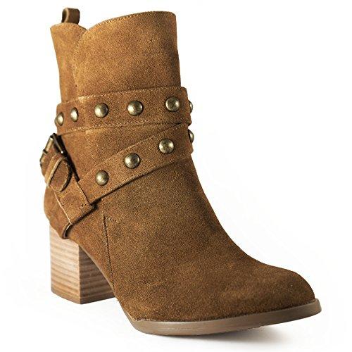 heel Women suede Tan foam leather Haley upper for insole 1Wvanc7RU